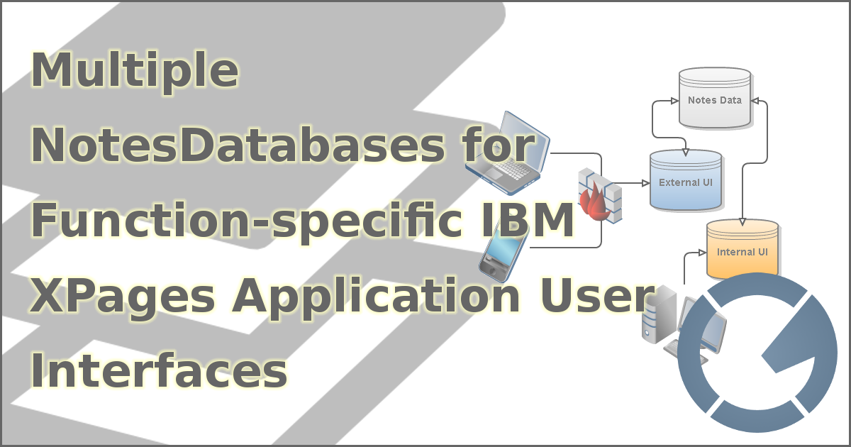 Multiple NotesDatabases for Function-specific IBM XPages Application User Interfaces